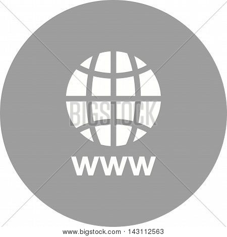 Url, www, internet icon vector image.Can also be used for networking. Suitable for mobile apps, web apps and print media.