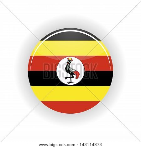 Uganda icon circle isolated on white background. Kampala icon vector illustration