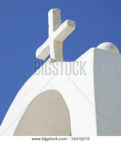 greek church with blue sky