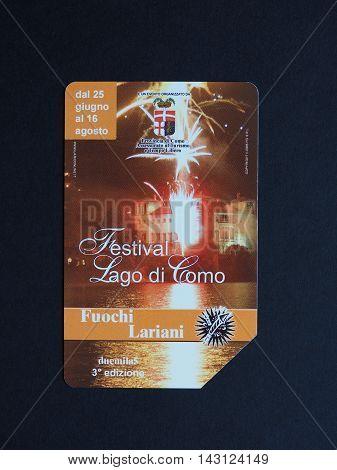 Telecom Italia Phone Card In Rome