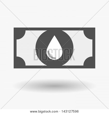 Isolated Bank Note Icon With A Blood Drop