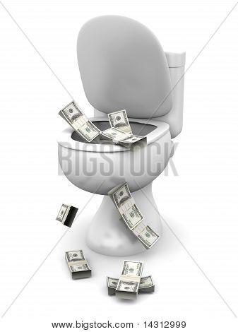 Dollar Toilet
