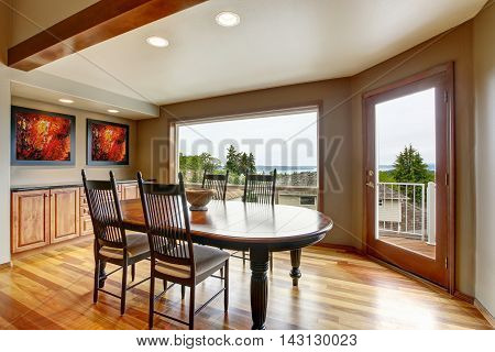 Dining Area With  Exit To Balcony And Perfect Water View