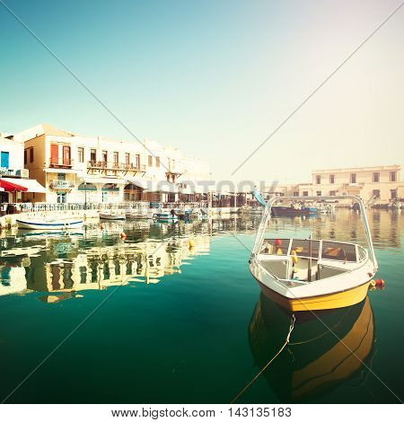 Rethymnon Crete old town boats and sea impressions of Greece