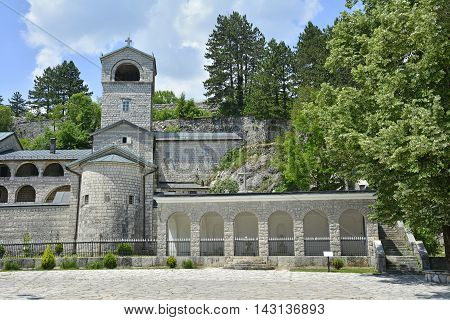 The Serbian Orthodox Monastery in the old royal capital of Montenegro Cetinje. The monestary was built in 1704 on the site of an earlier monestary.