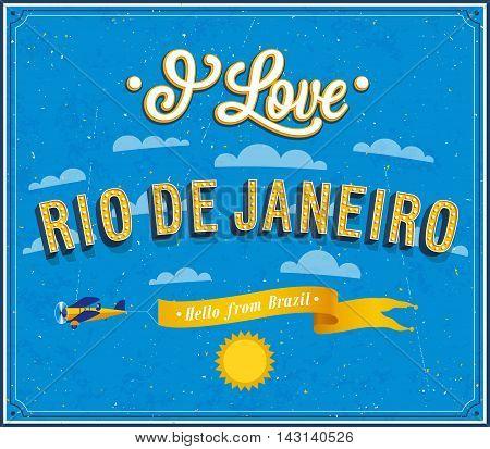I love Rio De Janeiro. Vector illustration.