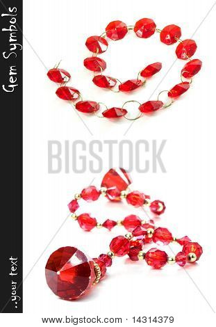Red Gems In Chain