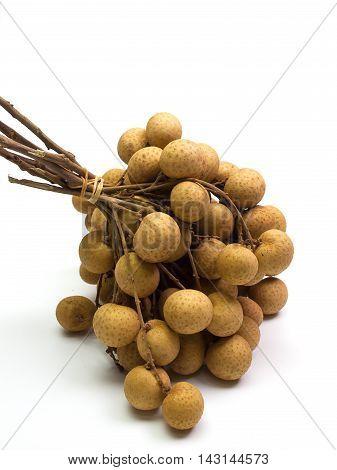 longan fruit fresh Placed on a white background.