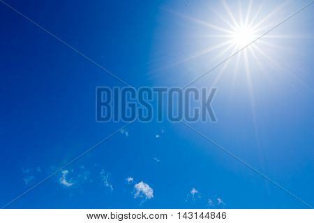 Stock photo material obtained by photographing the blue sky and clouds landscape.