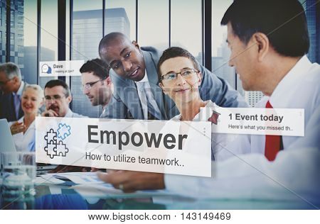 Empower Empowering Empowerment Improvement Concept