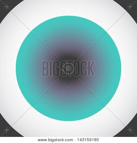 Colorful circle made of small rhombic dots. Modern abstract illustration. Element of design for a poster cover business card invitation or postcard.