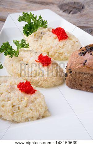 Forshmak chopped fish cutlets traditional jewish dish