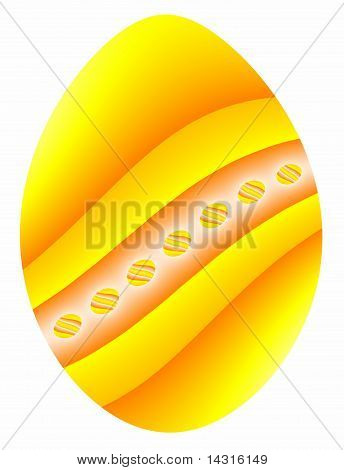 Easter Egg in Yellow and Orange