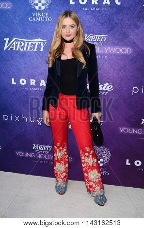 LOS ANGELES - AUG 16:  Katherine Newton at the Variety Power of Young Hollywood Event at the Neuehouse on August 16, 2016 in Los Angeles, CA
