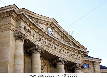 City hall of the 5th arrondissement of Paris France