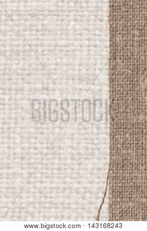 Textile tarpaulin, fabric style, fawn canvas, sackcloth material abstract background