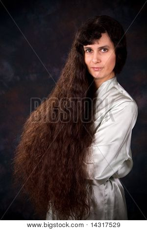 Long Hair Middle East Woman