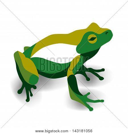 Trendy stylized illustration, frog, anuran, line vector silhouette of frog, vector illustration