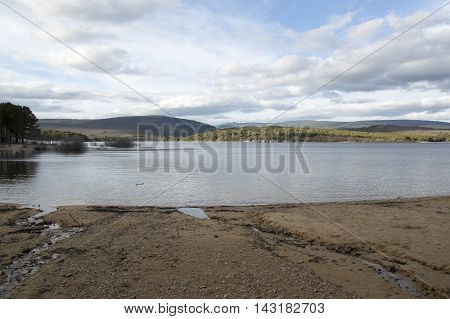 The reservoir in Soria in Soria, Castilla leon, Spain