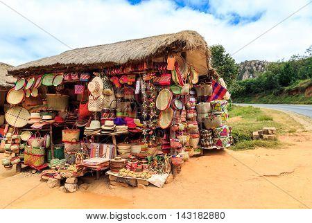 Soevenir Shop Along The Road In Africa