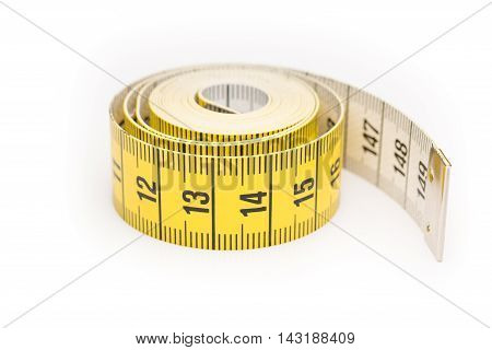 Rolled Yellow Black Measure Lint