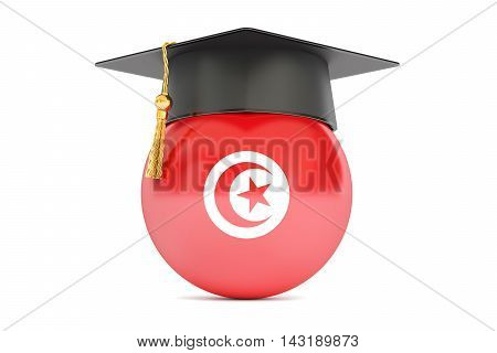 education and study in Tunisia concept 3D rendering isolated on white background