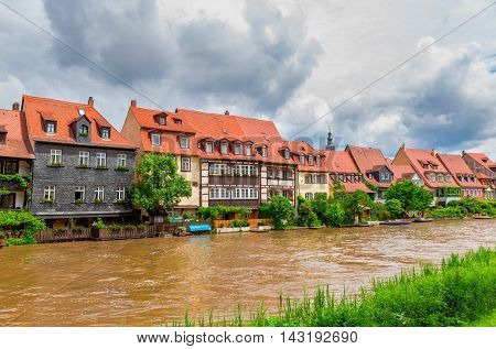Little Venice in Bamberg. Franconia. Germany. Former fishing village of the 17th century