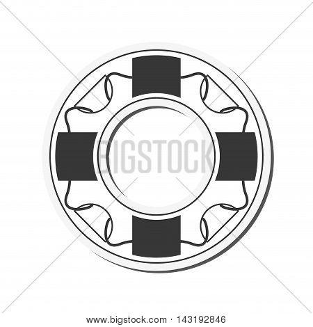 flat design life preserver icon vector illustration