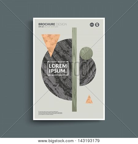 Textured geometry composition. Modern design poster. Eps10 vector.