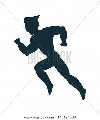 superhero costume avatar superman hero cartoon anime male icon. Flat and Isolated illustration. Vector illustration