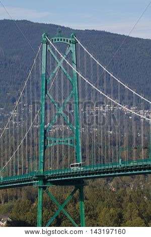 This is the Lions Gate Bridge.  It connects Vancouver to North Vancouver.