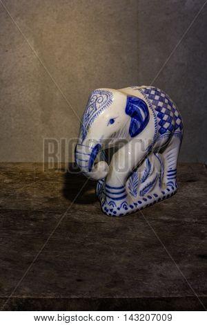 elephant bank ceramic still life , art