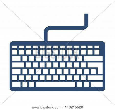 keyboard keypad computer icon vector isolated design
