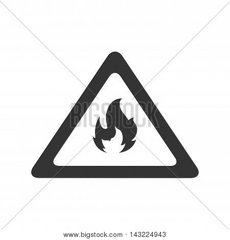 fire flame flammable warning danger safety vector illustration