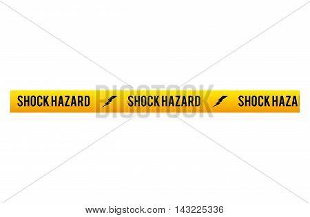 tape shock hazard dont cross security warning precaution restricted safety vector illustration