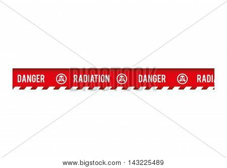 tape radiation dont cross security warning precaution restricted safety vector illustration