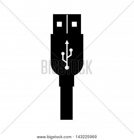 usb cable plug portable electronic connect drive vector illustration