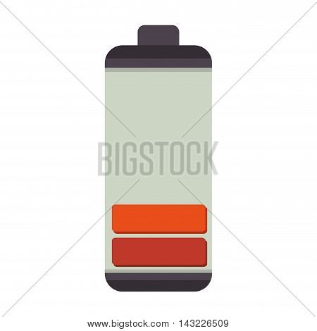 low battery energy charge electricity  power vector illustration