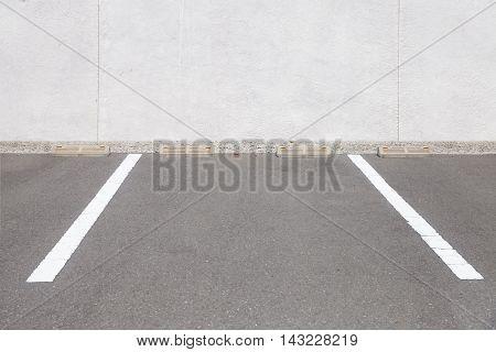 Empty outdoor car parking space Car parking lot area