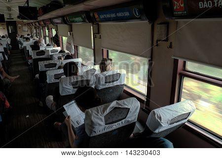 Vietnamese Passenger In  Train, Public Transport