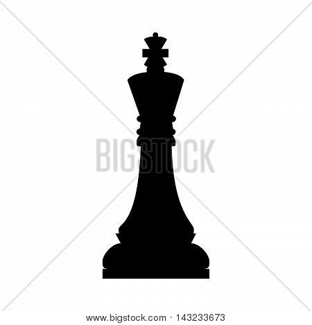 chess piece game king chessboard strategy silhouette vector illustration