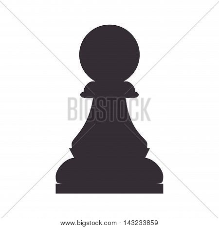 chess piece game pawn win focus chessboard strategy vector illustration