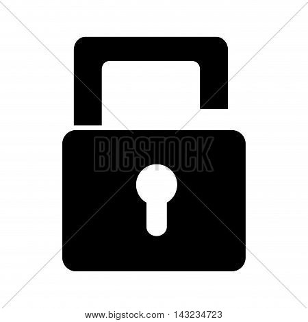 lock security safety safeguard object closed vector illustration