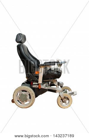 motorised wheelchair with basket for disabled people