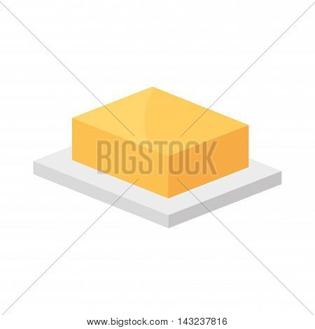 butter food margarine piece ingredient product vector illustration