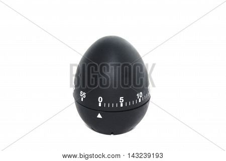 Timer in the form of black eggs on a white background
