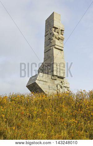 GDANSK, POLAND - NOVEMBER 7: Monument to the Defenders of Polish Coast at Westerplatte on November 7, 2010 in Gdansk.