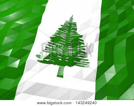 Flag Of Norfolk Island 3D Wallpaper Illustration