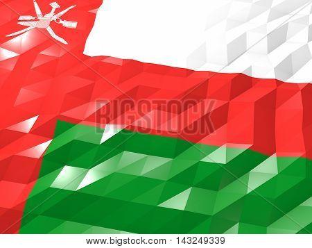 Flag Of Oman 3D Wallpaper Illustration