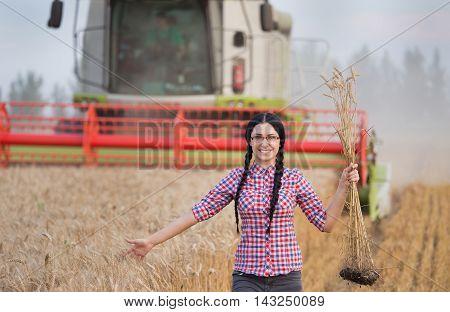 Woman Enjoying Life In Wheat Field